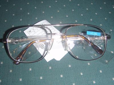 Dioptrické okuliare na čítanie zlatý rám - kovový