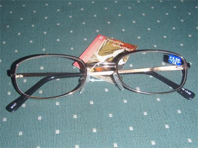 Dioptrické okuliare na čítanie pozlátené M141 + 3,0