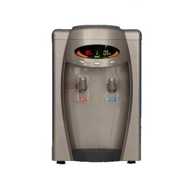 Kompresorový stolný digitálny strieborný výdajník vody SA108DS