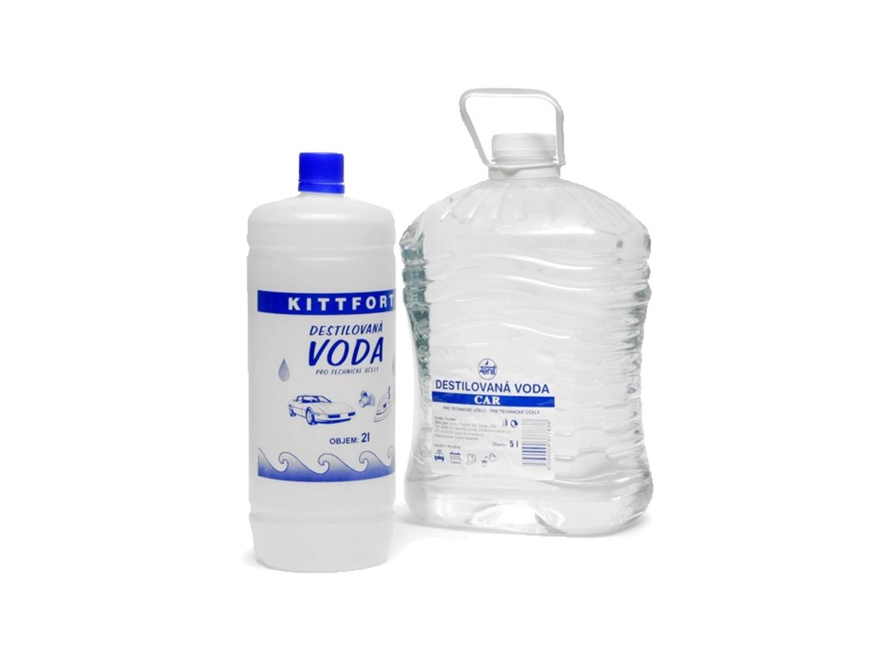 Destilovaná voda technická - demineralizovaná 1 liter