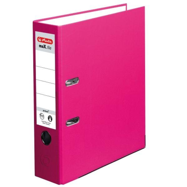 Šanón pákový Herlitz 8cm ružový maX.file