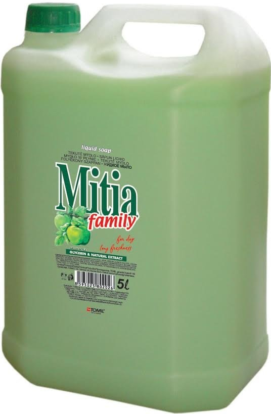 Mitia family, liquid soap,green apple 5L