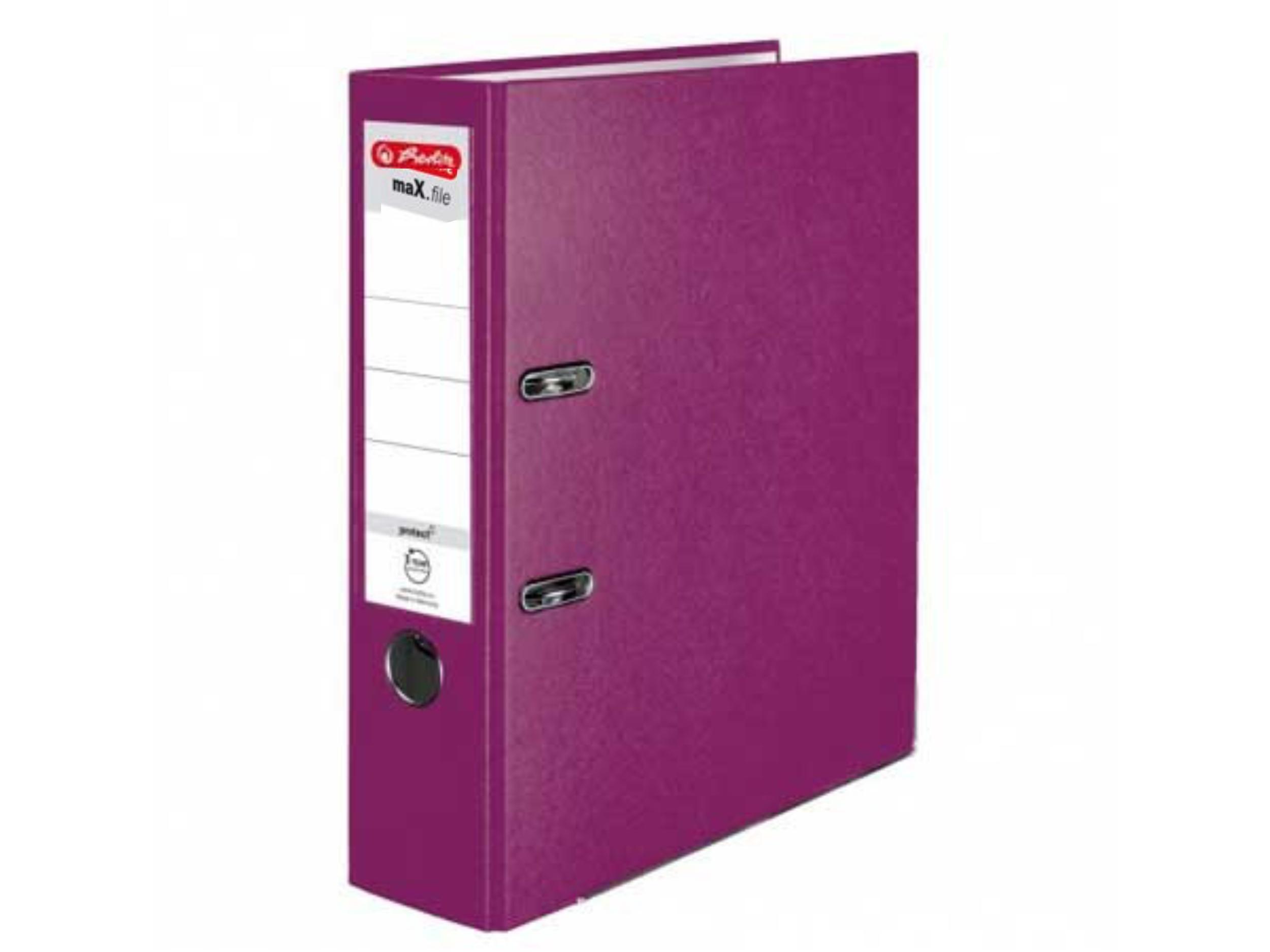 Šanón pákový Herlitz 8cm fialový maX.file